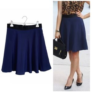 3.1 Phillip Lim Navy High Waist Skater Skirt